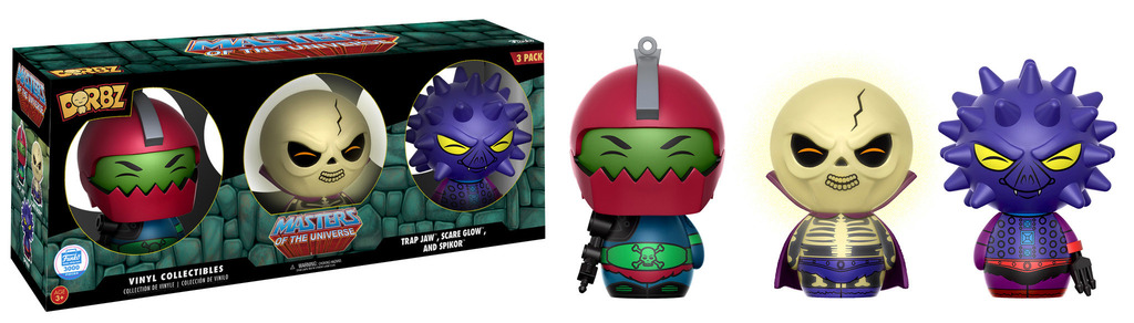Dorbz Television: Masters of the Universe - Trap Jaw, Scare Glow and Spikor Vinyl Figure 3-Pack