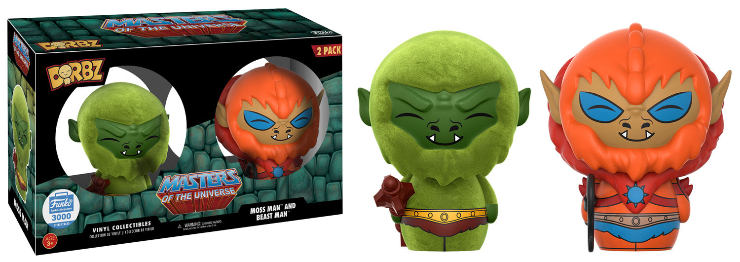 Dorbz Television: Masters of the Universe - Moss Man and Beast Man Vinyl Figure 2-Pack