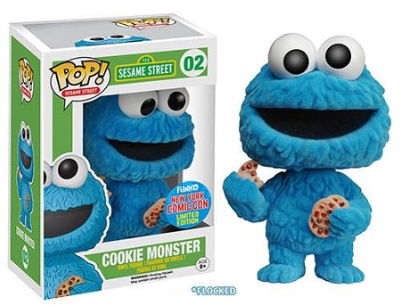 POP! Television: Sesame Street - Cookie Monster Flocked Vinyl Figure #2 (NYCC 2015 Exclusive)