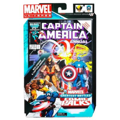 Marvel Universe: Greatest Battles Comic Pack - Wolverine & Captain America Action Figure 2-Pack