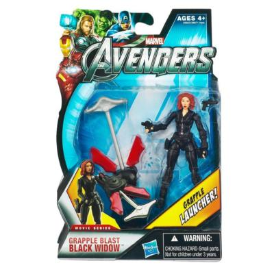 Marvel Movie Series: The Avengers - Grapple Blast Black Widow Action Figure