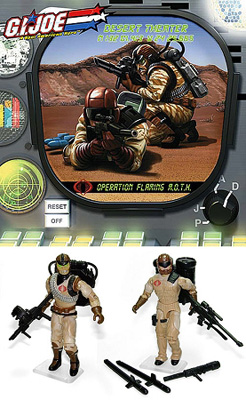 G.I. Joe Club: Desert Theater Operation Flaming M.O.T.H. - Flak-Viper & Range-Viper Action Figures