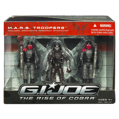 G.I. Joe The Rise of Cobra: MARS Troopers Action Figures