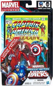 Marvel Universe: Greatest Battles Comic Pack - Captain America & Marvel's Falcon Action Figure 2-Pack