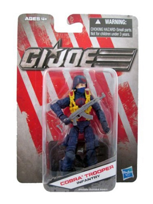 G.I. Joe The Toy Box:  Cobra Trooper Infantry (Blue) 3 3/4