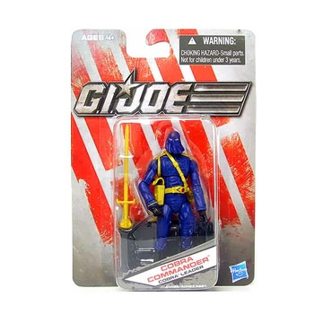 G.I. Joe The Toy Box:  Cobra Commander Cobra Leader (Blue) 3 3/4