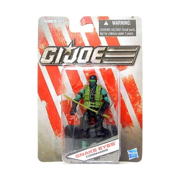 G.I. Joe The Toy Box:  Snake Eyes Commando (Green) 3 3/4