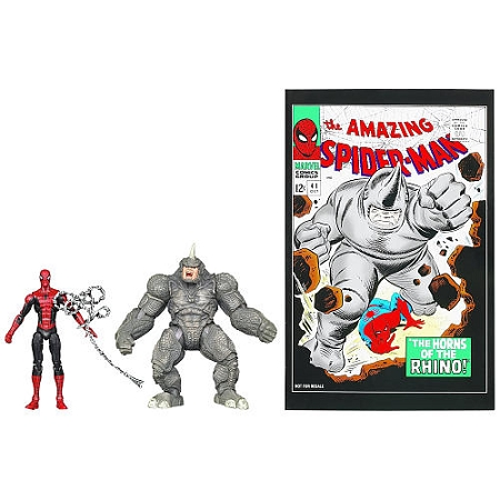 Marvel Universe: Greatest Battles Comic Pack - Spiderman & Rhino Action Figure 2-Pack (Toys R Us Exclusive)