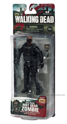 McFarlane Toys: The Walking Dead - Gas Mask Riot Gear Zombie Action Figure 4