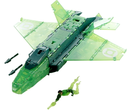 Mattel DC Green Lantern: Ring Blast Jet Action Figure Set
