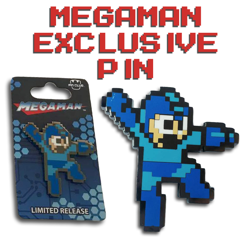 [PRE-SALE] Megaman 8-Bit Pin (Our NYCC 2018 Exclusive!)