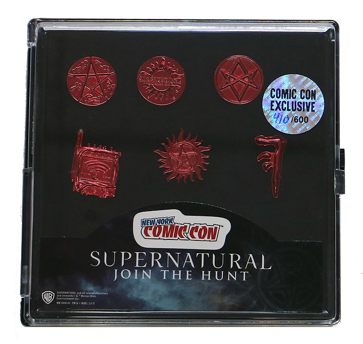 Supernatural Lapel Pin Set NYCC Exclusive