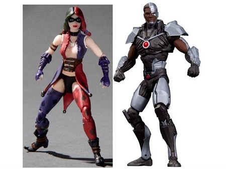 DC Collectibles: Injustice Gods Among Us - Cyborg vs. Harley Quinn Figure 2-Pack