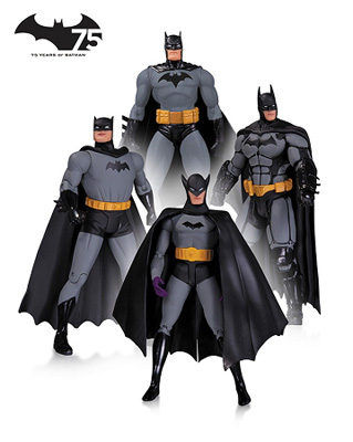DC Collectibles: Batman 75th Anniversary Figure 4-pack