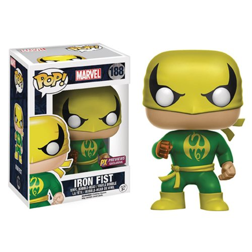 POP! Marvel Iron Fist Previews Exclusive Vinyl Bobble Head Figure