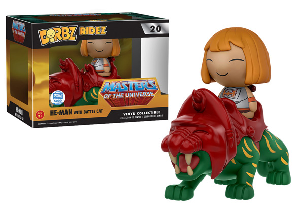 Dorbz Ridez Masters of The Universe He-Man with Battle Cat