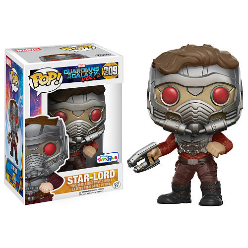 POP! Movies Marvel Guardians of the Galaxy Vol. 2 Toys R Us exclusive Star Lord Bobble Head Vinyl Figure