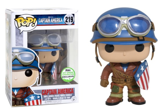 POP! Marvel Captain American The First Avenger Emerald City Comic Con Convention Exclusive Retail Vinyl Figure