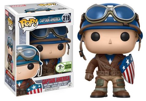 POP! Marvel Captin America Emerald City Comic Con Limited Edition Exclusive Vinyl Bobble-Head Figure