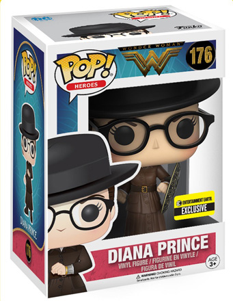 POP! Heroes DC: Wonder Woman 2017 - Diana Prince Vinyl Figure #176 (Entertainment Earth Exclusive)