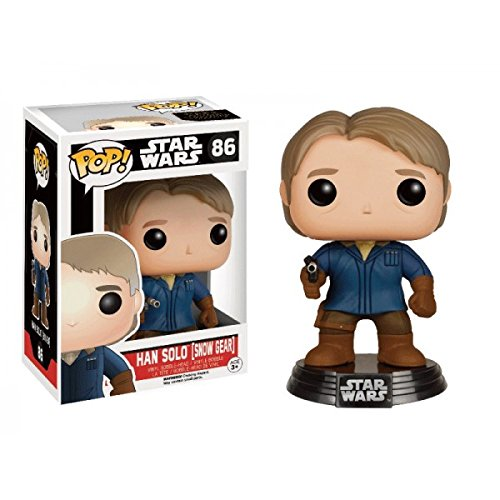 POP! Star Wars Han Solo [Snow Gear] Bobble Head  Vinyl Figure Lootcrate Exclusive