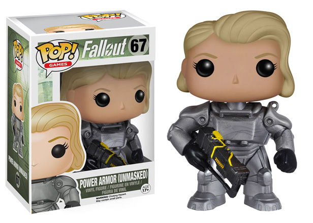POP! Games Fallout Power Armor Female (Unmasked) Vinyl Figure