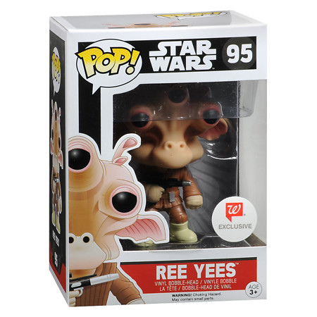 POP! Star Wars Ree Yees Bobble Head Vinyl Fgure Walgreens Exclusive