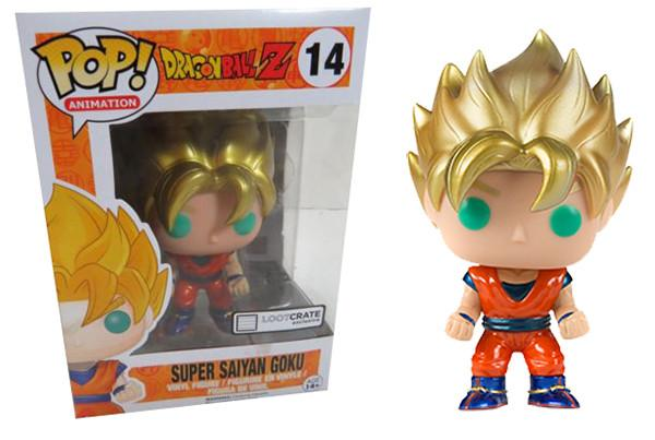 POP! Animation Dragon Ball Z Super Saiyan Goku Lootcrate Exclusive Vinyl Figure