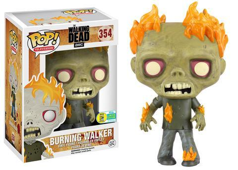 POP! Television The Walking Dead Burning Walker Vinyl Figure SDCC Exclusive