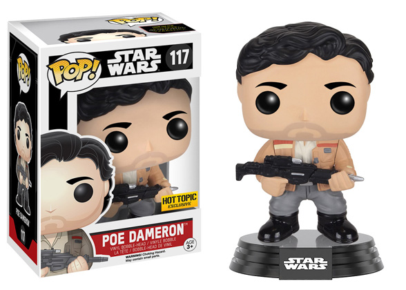 POP! Star Wars Poe Dameron Bobble Vinyl Figure Hot Topic Exclusive