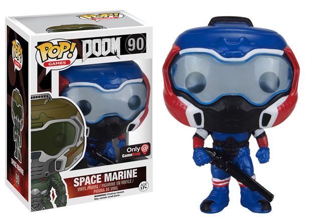 POP! Games Doom Space Marine (Red, White & Blue) Vinyl Figure