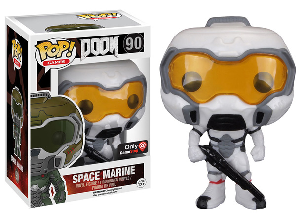 POP! Games Doom Space Marine (White & Yellow) Vinyl Figure
