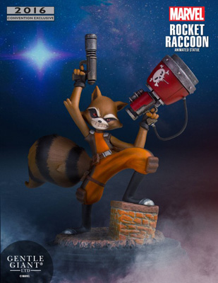 Rocket Raccoon Animated Statue SDCC 2016 Exclusive