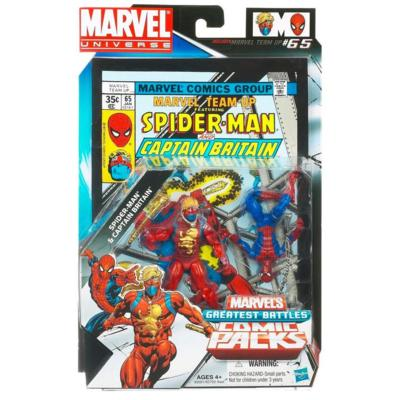 Marvel Universe: Greatest Battles Comic Pack - Spider-Man & Captain Britain Action Figure 2-Pack