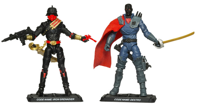 G.I. Joe Comic Pack Blackhead Destro & Iron Grenadier Variant Figure