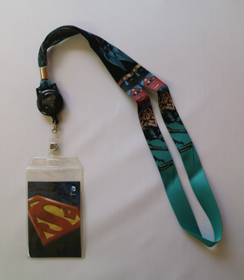 Superman Retractable Lanyard