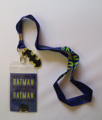 Batman 'In the Room Together' Lanyard