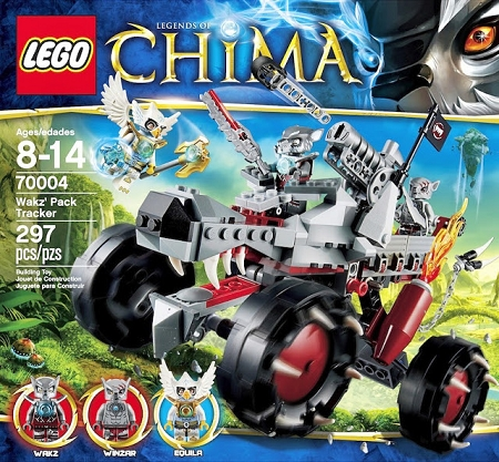 Lego Legends of Chima: Wakz' Pack Tracker #70004