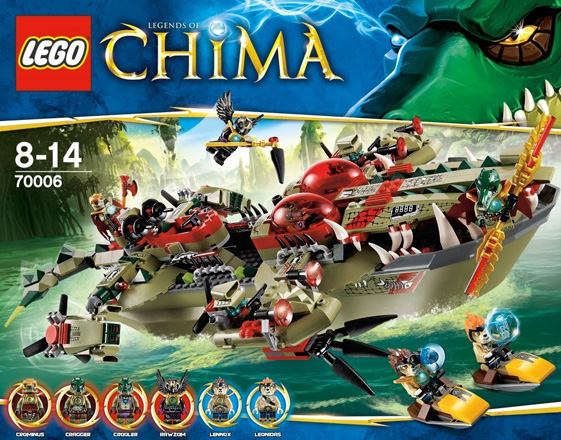 Lego Legends of Chima Cragger's Command Ship #70006