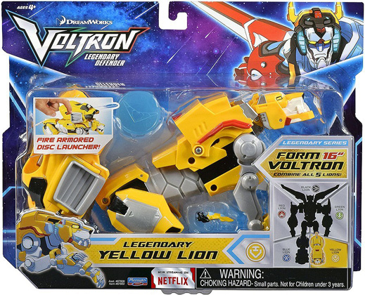 Playmates Voltron Legendary Defender: Legendary Yellow Lion Action Figure