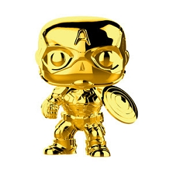 [PRE-SALE] POP! Heroes Marvel: Marvel Studios First 10 Years - Captain America (Gold Chrome) Vinyl Bobblehead Figure [Release Date TBA]