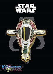 Star Wars Mandalorian Exclusive Pin - Boba Fett Slave I Ship Gold Trim (Celebration 2019)