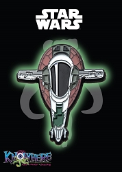 Star Wars Mandalorian Exclusive Pin - Boba Fett Slave I Ship Glow-in-the-Dark (Celebration 2019)