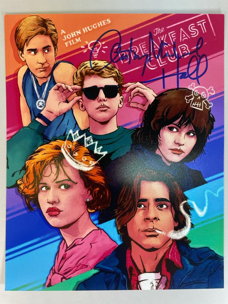 The Breakfast Club Photo (B) 8x10 Signed by Anthony Michael Hall