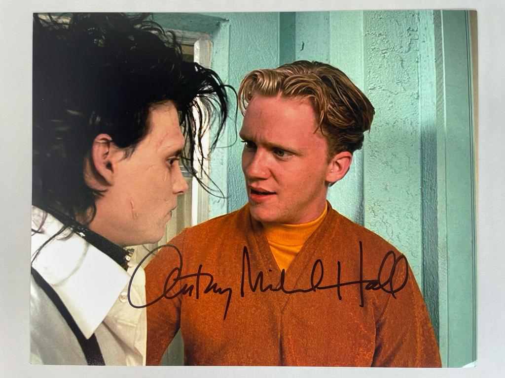 Edward Scissorhands 8x10 Signed by Anthony Michael Hall