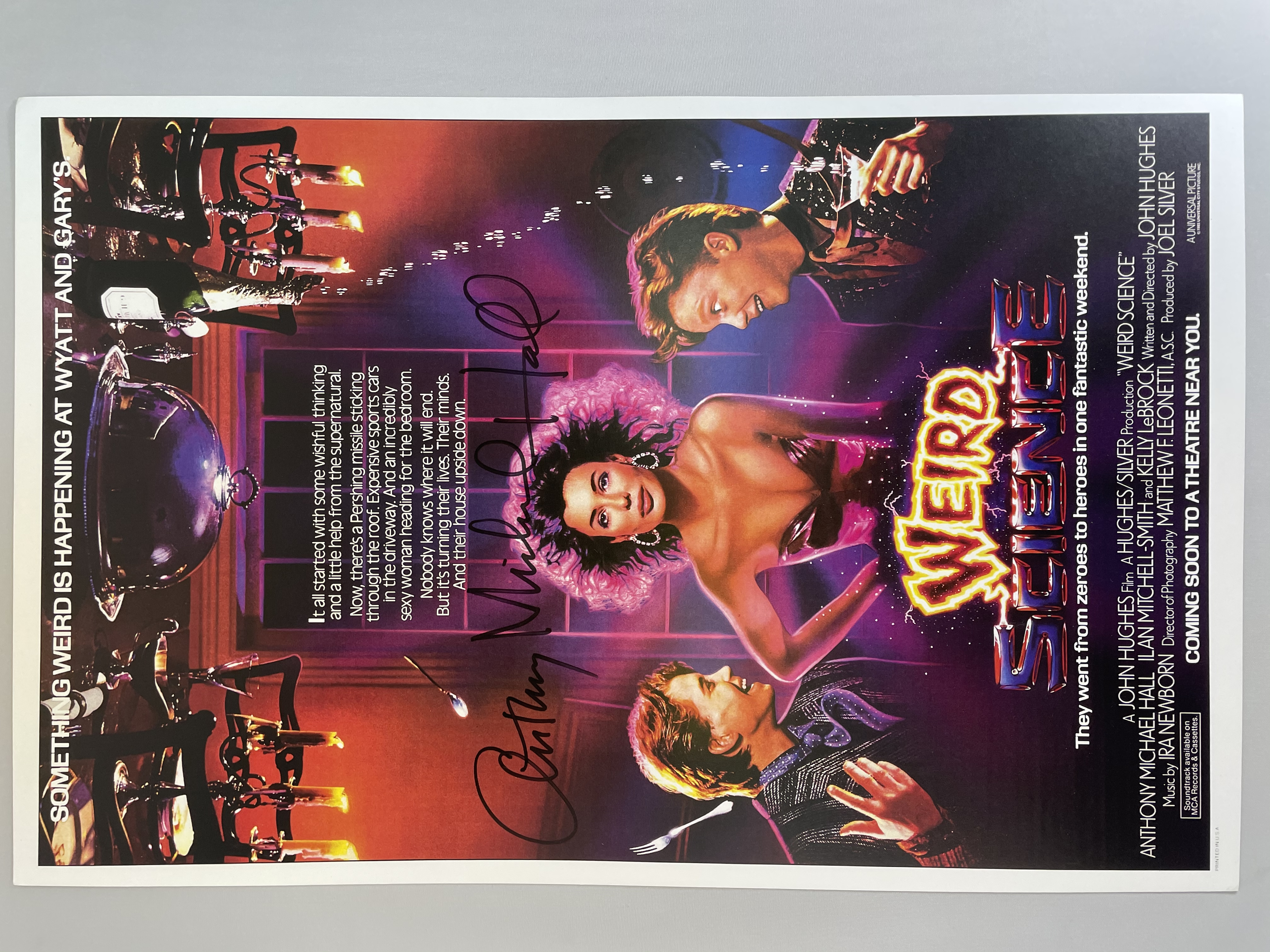 Weird Science Poster 11x17 Signed by Anthony Michael Hall