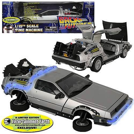 Back to the Future II: 1/15th Scale Delorean Time Machine Die Cast Vehicle