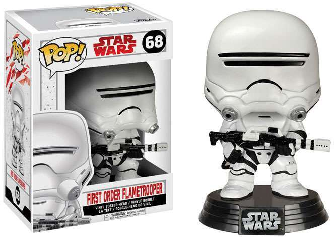 POP! Star Wars: The Last Jedi - First Order Flametrooper Vinyl Bobblehead Figure #68