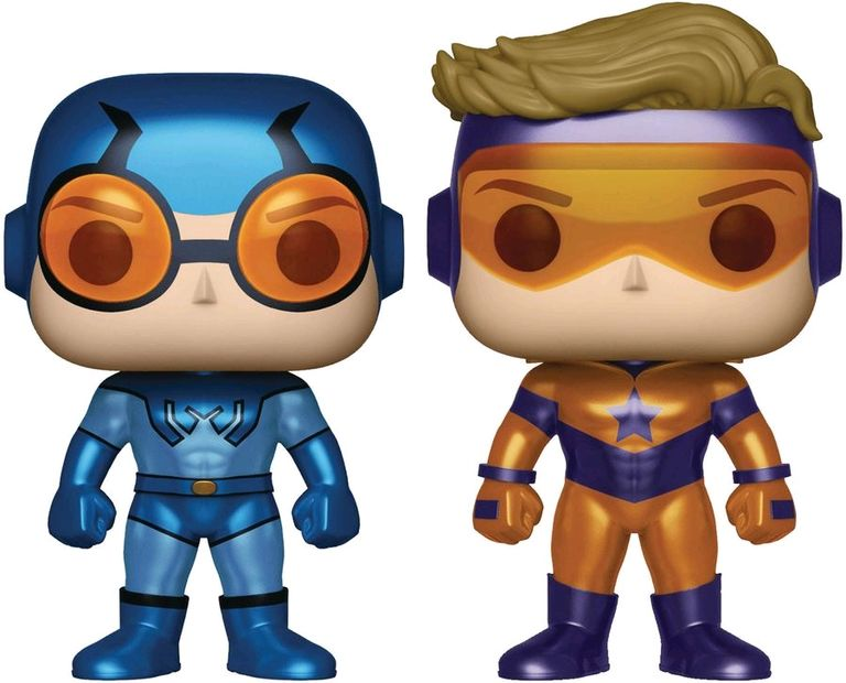 POP! DC Comics: Blue Beetle & Booster Gold Metallic Vinyl Figure 2-Pack (Previews Exclusive)