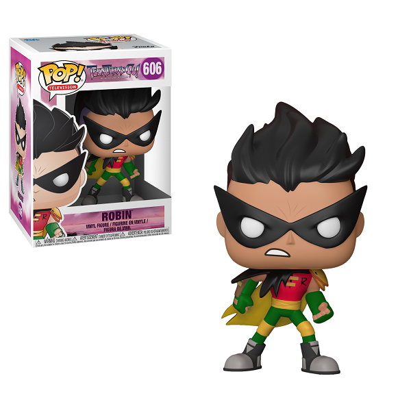 POP! DC Comics: Teen Titans GO!: Night Begins to Shine - Robin Vinyl Figure #606